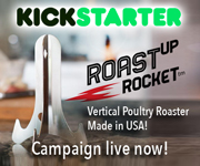 RoastUpRocket chicken and duck vertical roaster