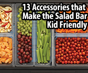 Cambro 13 Accessories to Make Salad Bar Kid Friendly