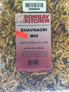 the recalled bhavnagri mix is distributed nationwide in retail stores the product comes in a 19 ounce clear bag marked with lot 28517 31917 33817 - Bombay Kitchen